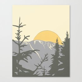 Ski Mountain Sun and Trees - Breckenridge  Canvas Print