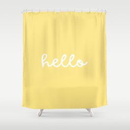 HELLO YELLOW Shower Curtain