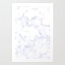 Classic Grey and White Natural Stone Veining Quartz Art Print