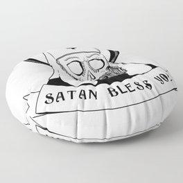 Satan bless you Floor Pillow