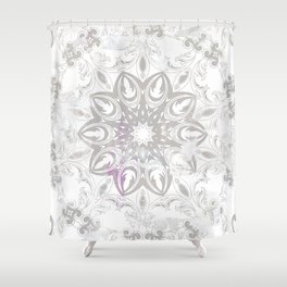 ligh colored lace Shower Curtain