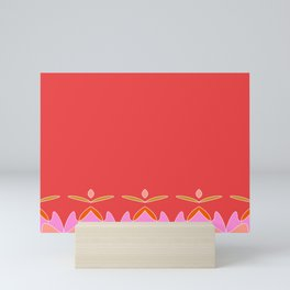 Wave Riders Minimalist Coral Mini Art Print