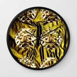 gold vintage earrings coco Wall Clock