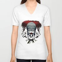pennywise V-neck T-shirts featuring Pennywise by John Medbury (LAZY J Studios)
