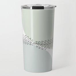 Fern, continuous line Travel Mug