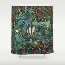 Wood Turtle Shower Curtain