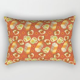 Coffee and Toast (Tomato Sauce Red) Rectangular Pillow