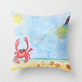 The E-Sea Life - Watercolor Throw Pillow