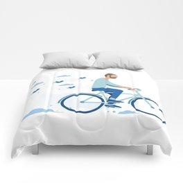 bird man bike Comforters