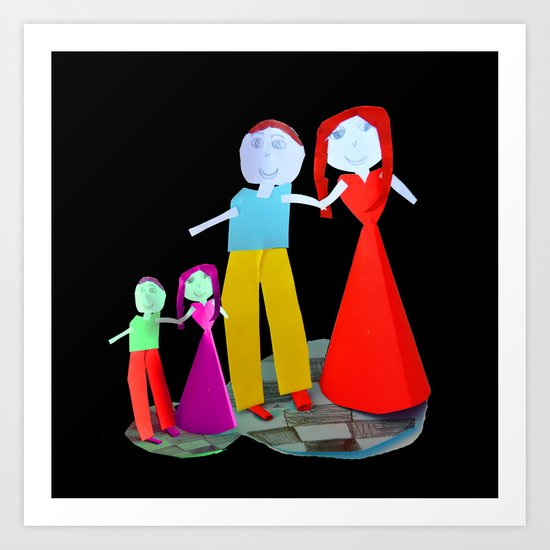 Dance me to the end of love | Kids Painting by Elisavet Art Print