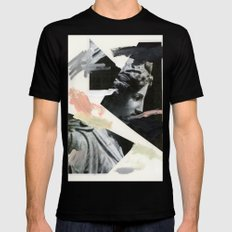 Untitled (Painted Composition 3) Black LARGE Mens Fitted Tee