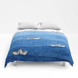 Paper boats Comforters