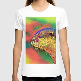 AnimalColor_Otter_004_by_JAMColors T-shirt
