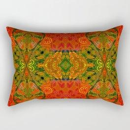 Vintage Bohemian Christmas Rectangular Pillow