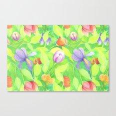 Crayon Love Springtime Canvas Print