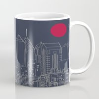 blueprint Mugs featuring Philly Blueprint by ralexandertrejo