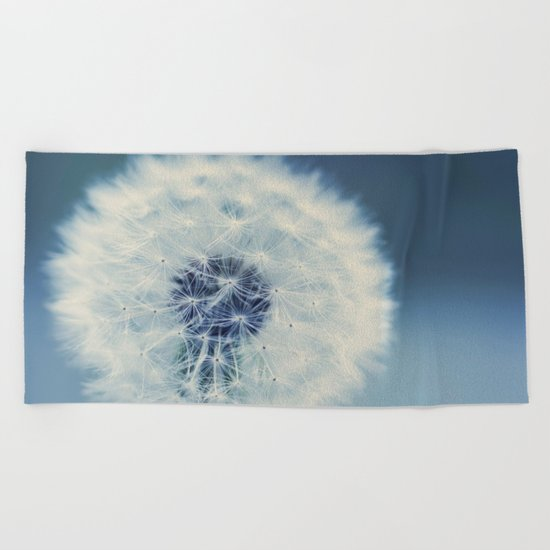 dandelion blues Beach Towel
