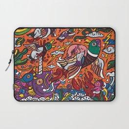 Mallard ducks with elephant Laptop Sleeve