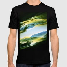 Sunny Surf Mens Fitted Tee Black LARGE