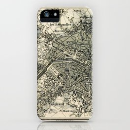 Plan von Paris iPhone Case