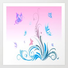 Sweet Sunny Day in pink Art Print