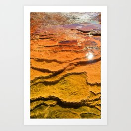 Yellowstone National Park - Sulpher Geyser Art Print