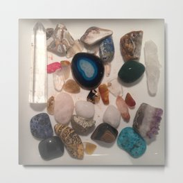 Assorted Crystal Stones Metal Print