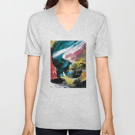 Abstract Artwork Colourful #3 Unisex V-Neck