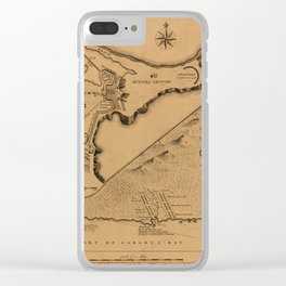 Map of Louisbourg 1757 Clear iPhone Case