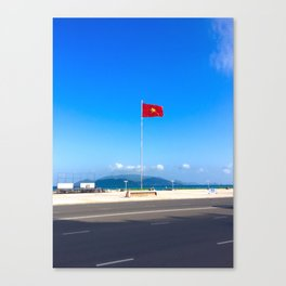 Vietnam Flying Flag Canvas Print
