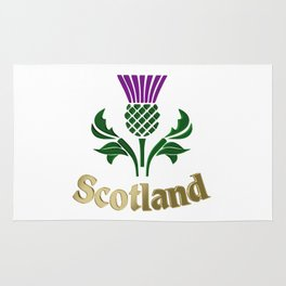 Scottish emblem thistle Rug