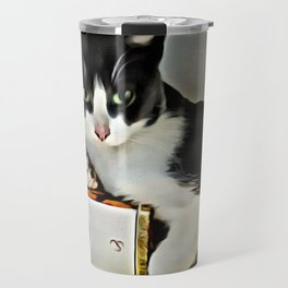 Black & White Kitty Travel Mug
