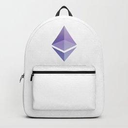 Ethereum ETH Blue Purple Logo Design Backpack