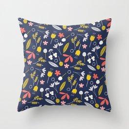 Joyful Floral Mix Throw Pillow
