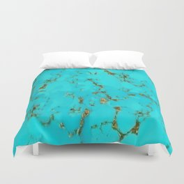 December Babies Turquoise Birthstone Abstract Duvet Cover
