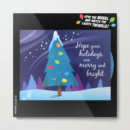 Merry and Bright – AniMotion Card Metal Print