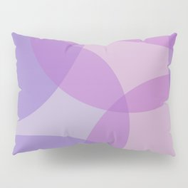 Purple Geometric Circles Pillow Sham