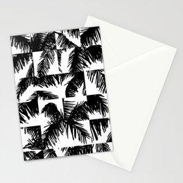 Palm Leaf Pattern Black Stationery Cards