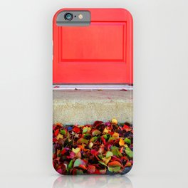 Leaves and Door iPhone Case