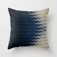 wave Throw Pillows featuring Wave by thinschi