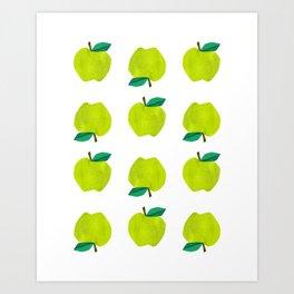 Granny Smith Apples for Days Art Print