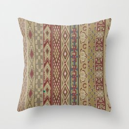 Navajo Geometric Pattern 1 Throw Pillow