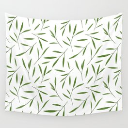 Bamboo Leaves Wall Tapestry