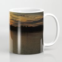 thanksgiving Mugs featuring Thanksgiving Sky by Mim White