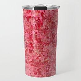 Pink Leaves Travel Mug