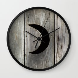 Outhouse Moon Wall Clock