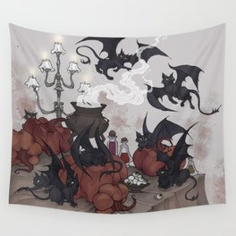 Samhain Kittens Wall Tapestry
