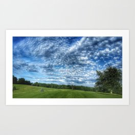 Golf Sky Art Print