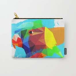 Multicolor parrot print, animal printable wall art, colored parrot, colored wall art, colored decor Carry-All Pouch