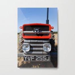 Massey Ferguson 135 vintage tractor,head on. Metal Print